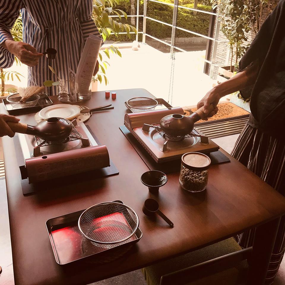 広島のコーヒー教室「caffefresco Nagi」の焙煎フォロー会